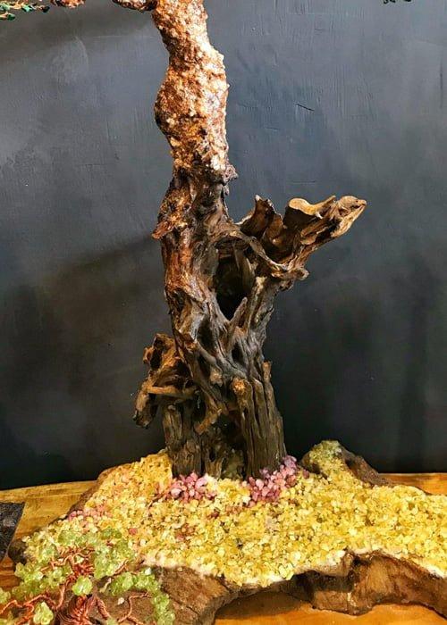 Lũa Bonsai Dây Đồng Đá Quý
